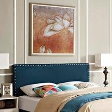 View Product - Phoebe Queen Upholstered Fabric Headboard in Azure