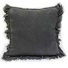 Linen Decorative Pillow W/ Ruffle