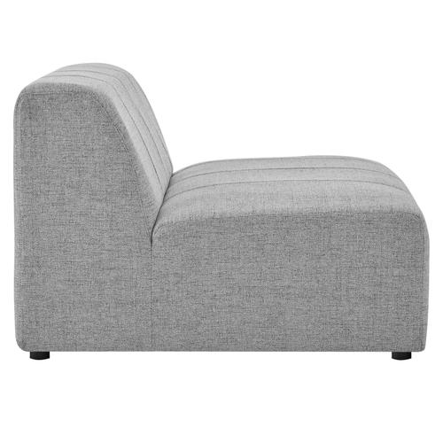 Bartlett Upholstered Fabric Armless Chair in Light Gray