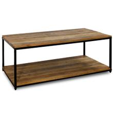 CHATTERCUT SOLID MANGO  24ht X 47w X 18d  Rectangle Coffee Table with Lower Shelf in a Medium Natu
