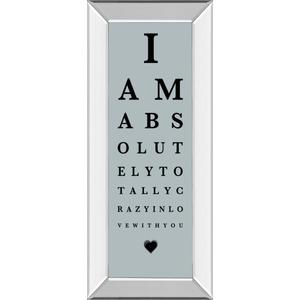 """""""Eye Chart I"""" By The Vintage Collection Mirror Framed Print Wall Art"""