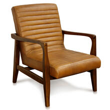 CHANNEL BACK LOUNGE CHAIR