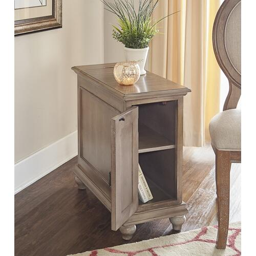 1-door With Inside Shelf Cabinet, Grey