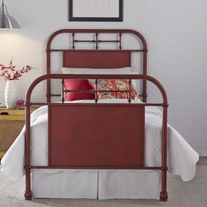 Liberty Furniture Industries - Full Metal Bed - Red