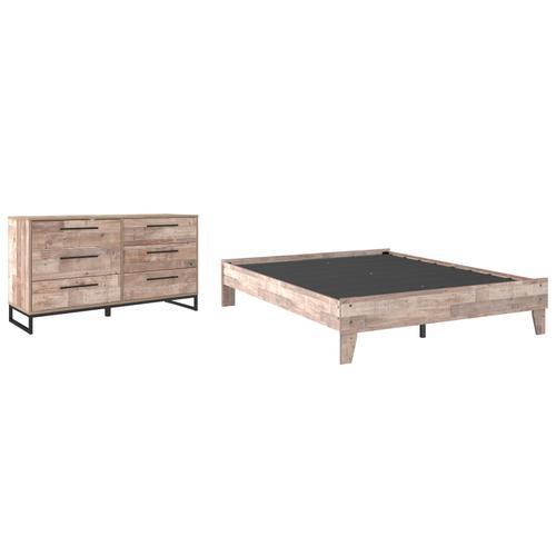 Ashley - Queen Platform Bed With Dresser