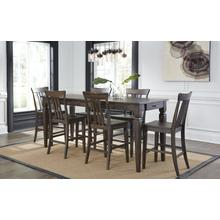 See Details - 7 Piece Set (Narrow Pub Table and 6 Barstools)