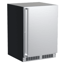 24-In Professional Built-In Refrigerator Freezer with Door Style - Stainless Steel