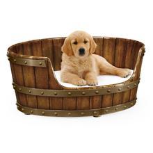 Product Image - Large Walnut Wooden Dog Bed