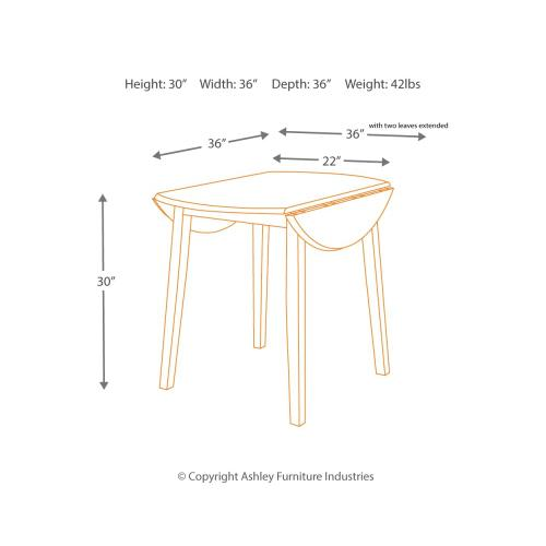 Hammis Dining Drop Leaf Table
