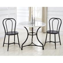 View Product - Claire 3 Piece Marble Top Bistro Dining(Table & 2 Side Chairs)
