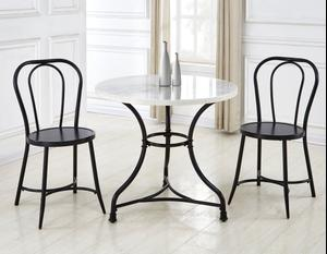6564 In By Steve Silver Co In Jennings La Claire 3 Piece Marble Top Bistro Dining Table 2 Side Chairs