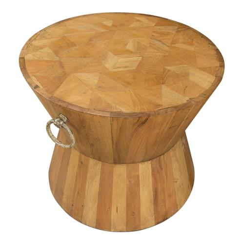 Hourglass Occasional Table, Driftwood