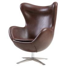 Max PU Swivel Rocker Chair Chrome Legs, Distressed Brown