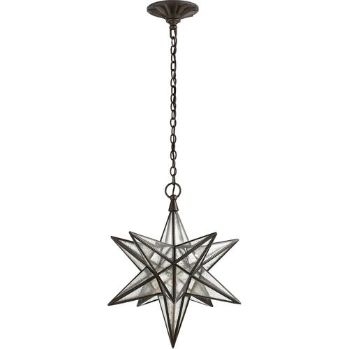 Visual Comfort CHC5211AI-AM E. F. Chapman Moravian Star 1 Light 18 inch Aged Iron Pendant Ceiling Light