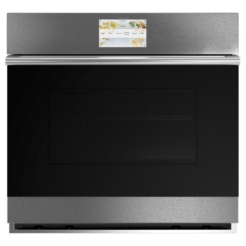 """Café™ 30"""" Smart Single Wall Oven with Convection in Platinum Glass"""