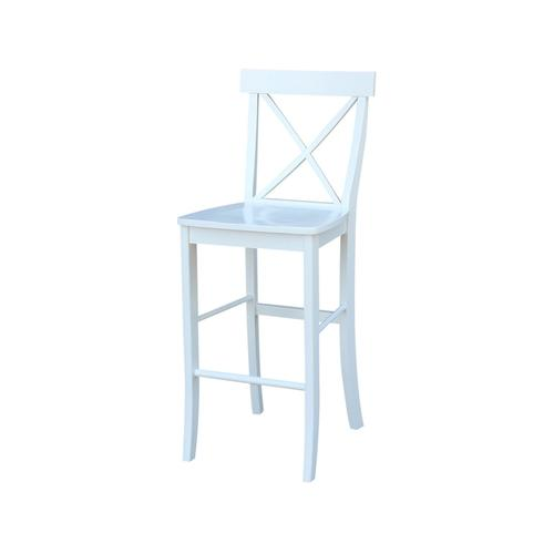 X-Back Stool in White