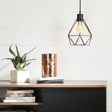Hanging lamp with geometric shade - Black