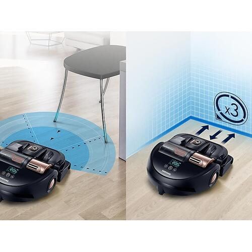 Samsung - POWERbot™ R9250 Robot Vacuum in Airborne Copper