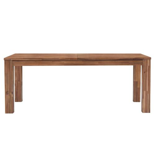 """Bedford 75"""" Rect. Dining Table Square Legs, Brushed Brown"""