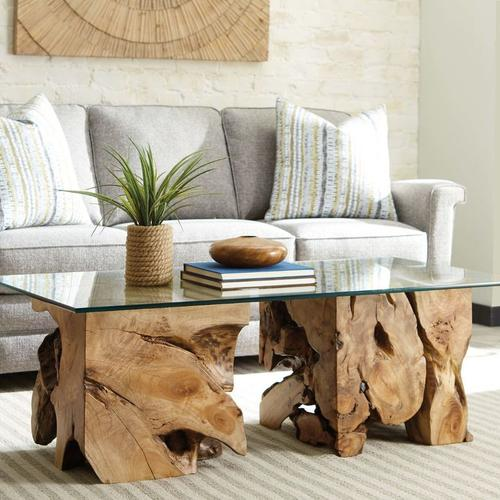 Gallery - SQUARE ROOT TABLE WITH GLASS TOP