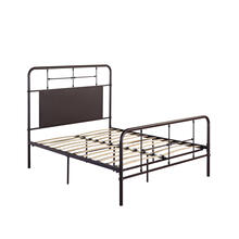 4/6 Full Iron Headboard-footboard-rails-dark Brown Finish