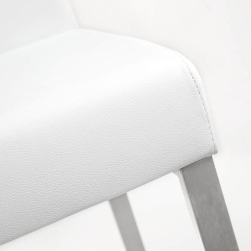 Denmark White Steel Counter Stool (Set of 2)