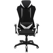 View Product - Hanover Commando Ergonomic High-Back Gaming Chair in Black and White with Adjustable Gas Lift Seating and Lumbar Support, HGC0104