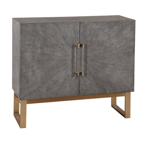 Two Door Shagreen Bar Cabinet