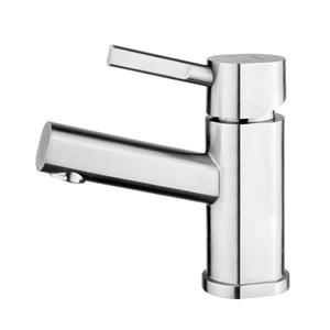 Waterhaus lead-free, solid stainless steel, single-hole, and single lever lavatory faucet with solid stainless steel pop-up drain. Product Image