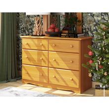 5404 - Double Dresser Honey Pine