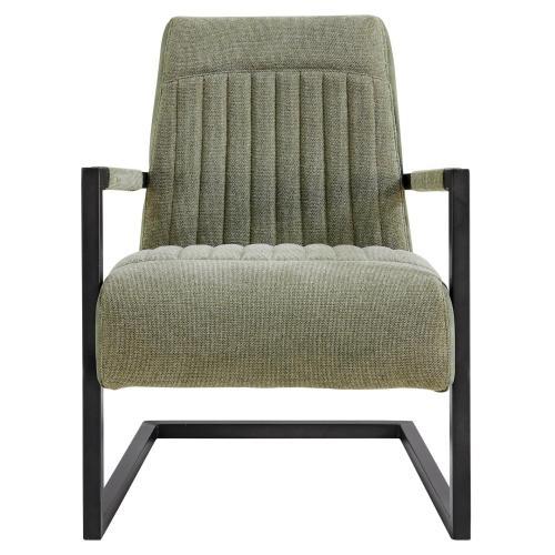 Jonah KD Fabric Accent Arm Chair, Sage Green/Velvet Green