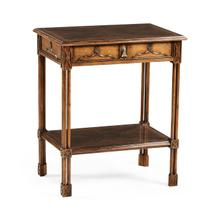 View Product - Chippendale gothic rectangular side table