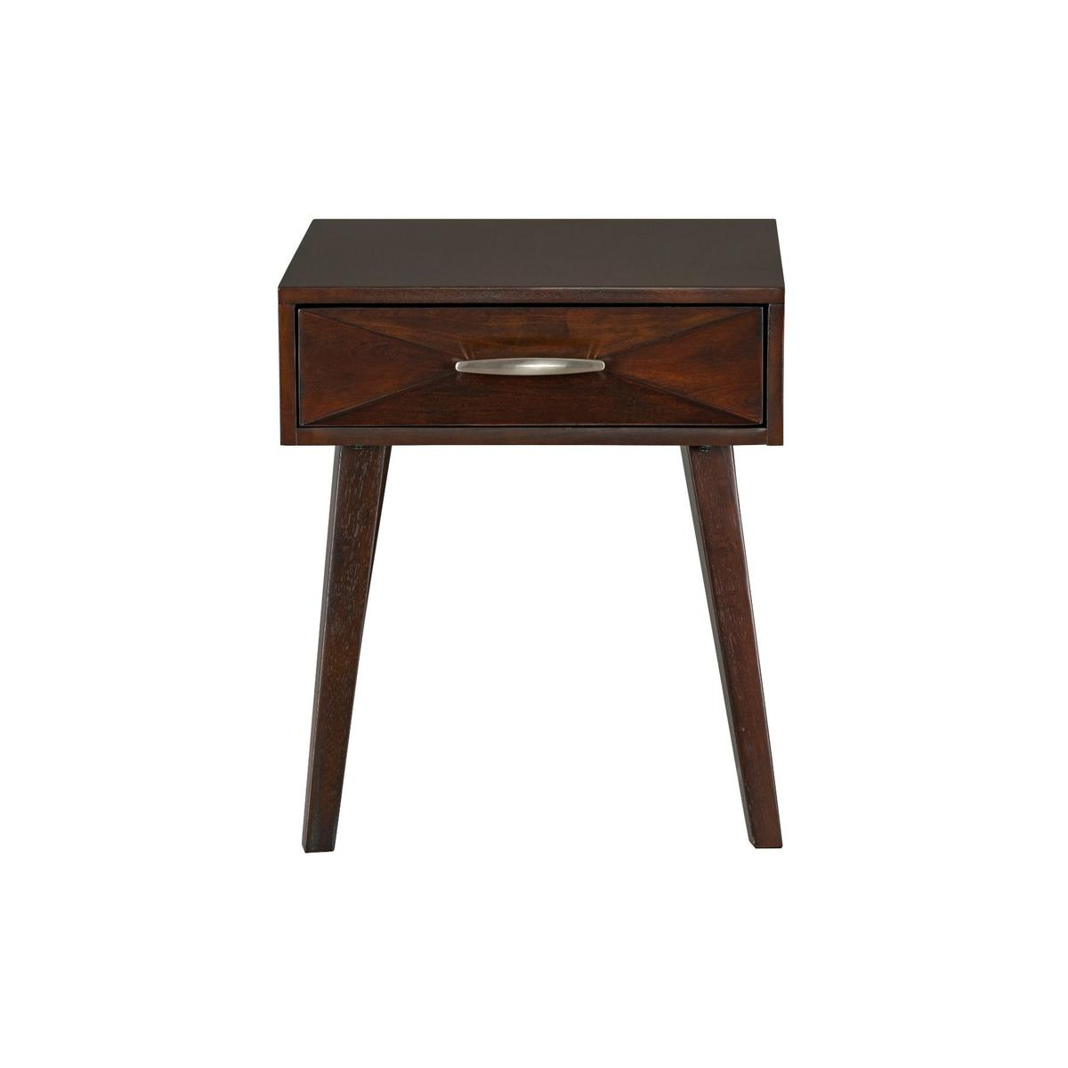 Forsythe End Table, Brown