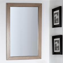See Details - Wall-mount mirror in metal or wooden frame.