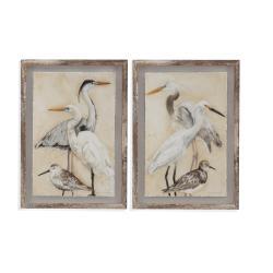 2 Pc Watercolor Waterbirds