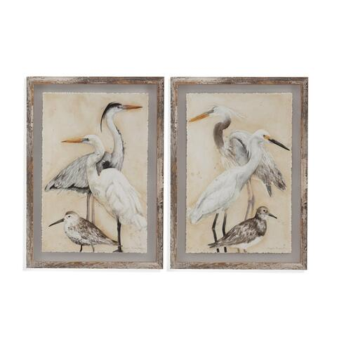 2 Pc Watercolor Waterbirds