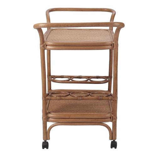 Trento Rattan Cart, Canary Brown