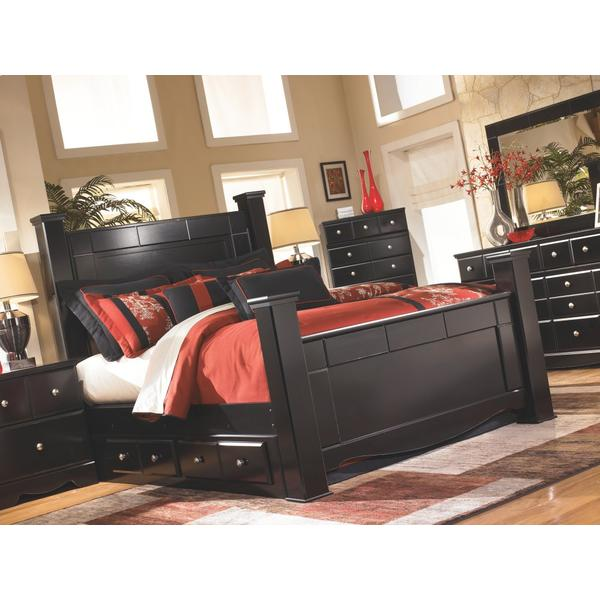 Shay King Poster Bed With 2 Storage Drawers