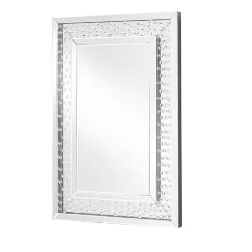 Elegant Lighting - Sparkle 24 in. Contemporary Crystal Rectangle Mirror in Clear