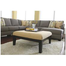 Chamberly  Oversized Accent Ottoman Alloy