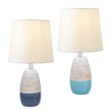 Natural Stripe & Reactive Glaze Accent Lamp. 40W Max. (2 pc. ppk.)