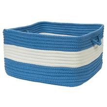 "Rope Walk Basket CB95 Blue Ice 14"" X 10"""