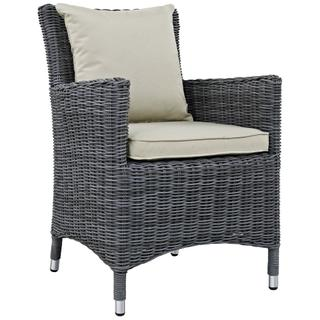 Summon Dining Outdoor Patio Sunbrella® Armchair in Antique Canvas Beige