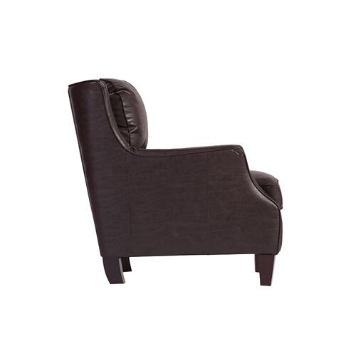 Garnett Espresso Leather Accent Chair, ACL519