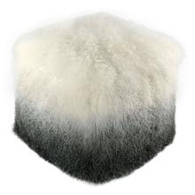 Tibetan Sheep White to Grey Pouf