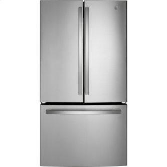 GE™ Energy Star™ 27.0 Cu. Ft. French-Door Refrigerator Fingerprint Resistant Stainless Steel - GNE27JYMFS