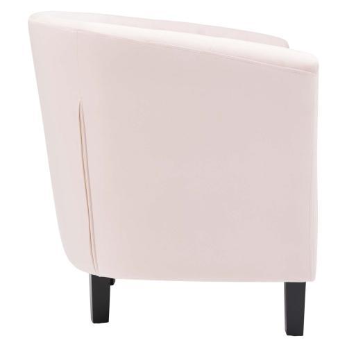Modway - Prospect Performance Velvet Armchair in Pink