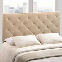 View Product - Theodore Queen Upholstered Fabric Headboard in Beige
