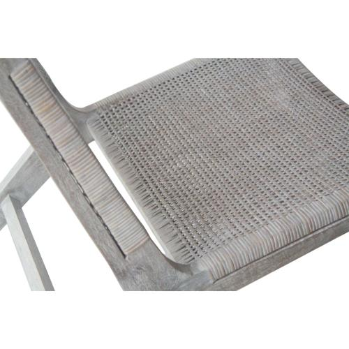 Delroy Webbing Rattan Accent Chair, Gray