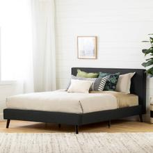 Gravity - Complete Upholstered Bed, Matte Charcoal, Queen